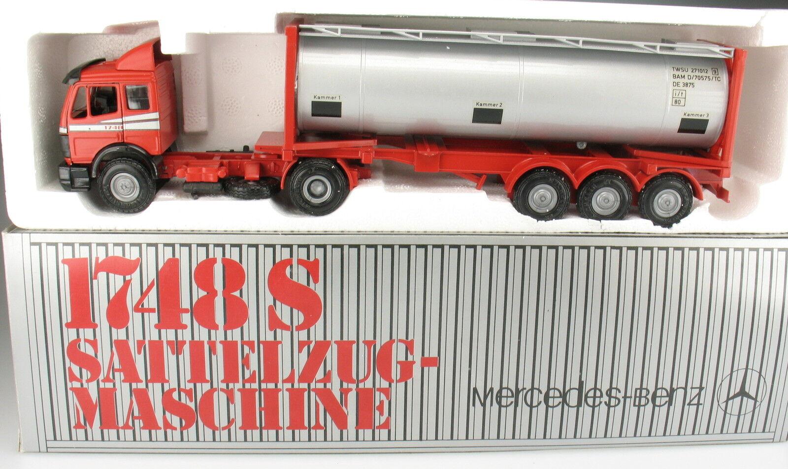 NZG 317 2-Mercedes-Benz MB 1748 S tanque contenedor remolcarse - 1 43 Model Truck