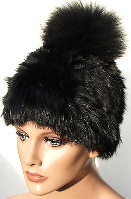2019 Moda Berretto Pelliccia Black Maglia Fuchs Bommel Fell Hat Fox Per Hat Kanin Nero