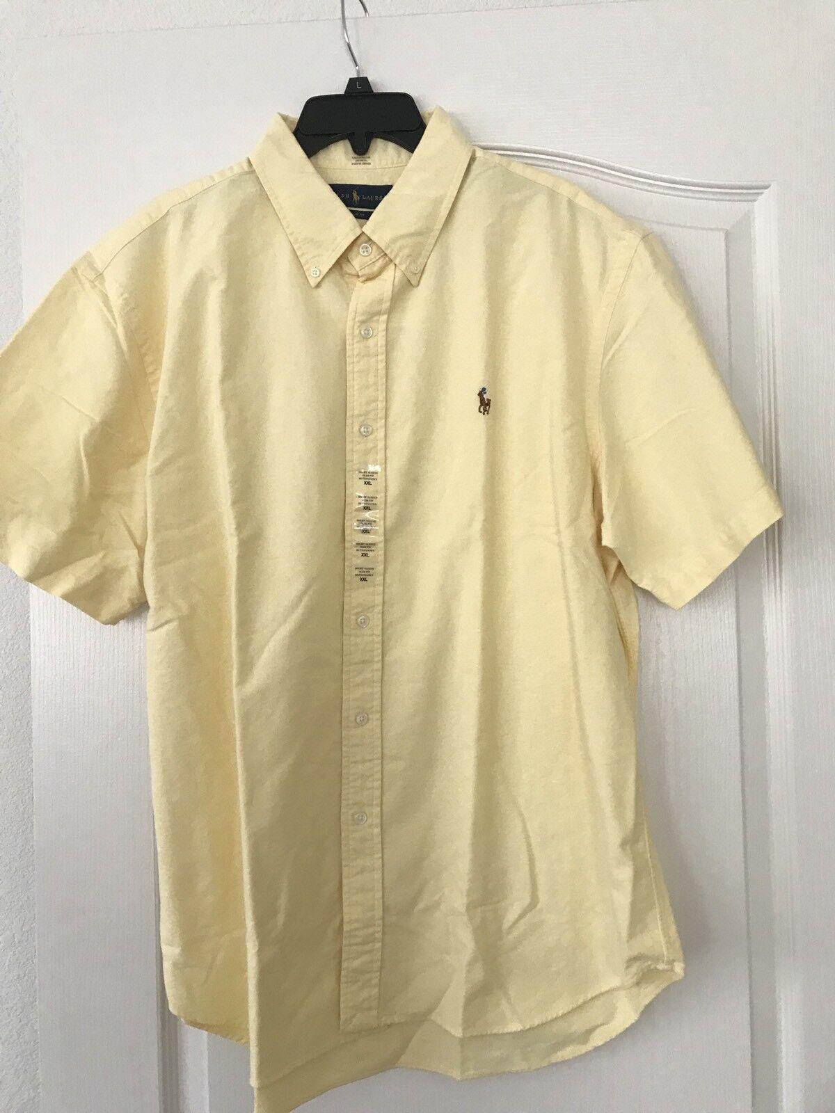 Polo Ralph Lauren Small  Pony  Gelb  Oxford   Shirt XXLarge  XXL Slim Fit