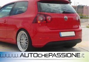 Sotto-paraurti-posteriore-R32-look-Volkswagen-Golf-5-nuovo-ABS-senza-fori