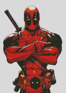 X Men Mercenary Cross stitch chart New Mutants Deadpool Wolverine pattern