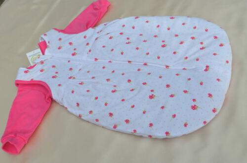 Baby Schlafsack Fußsack NEU 2-Tlg.Blau Pink mit Ärmel 50//56 74//80 62//68