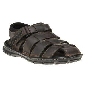 Herrenschuhe Kleidung & Accessoires New Mens Rockport Brown Darwyn Fisherman Leather Sandals Sports Slip On Bequemes GefüHl