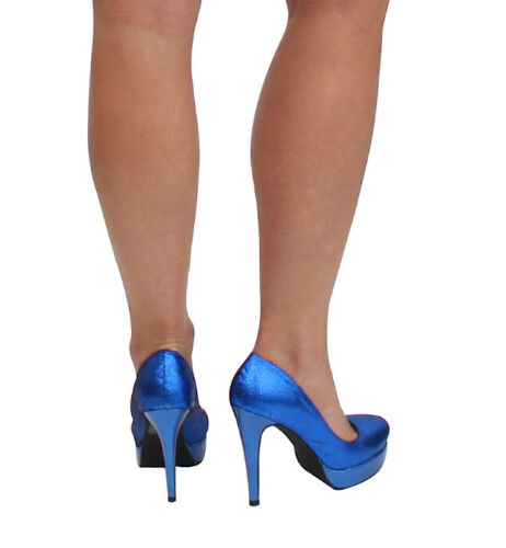 Cri de Coeur Margaret Heels in Royal Blue Size 6 /& 7 Available