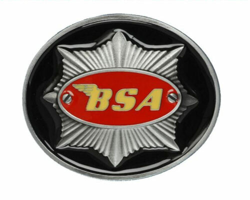 Black /& Red BSA Classic Motorcycles /'Star/' Belt Buckle