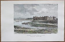 1890 Reclus print FORT CHAMBLY, ON RICHELIEU RIVER, QUEBEC, CANADA (#39)