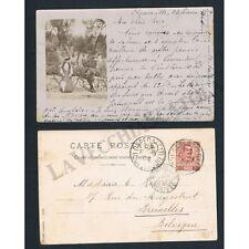 SP080 - 1904 Foto Cartolina da Ospedaletto a Bruxelles