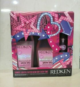 REDKEN-DIAMOND-OIL-GLOW-DRY-TRIO-KIT-SET