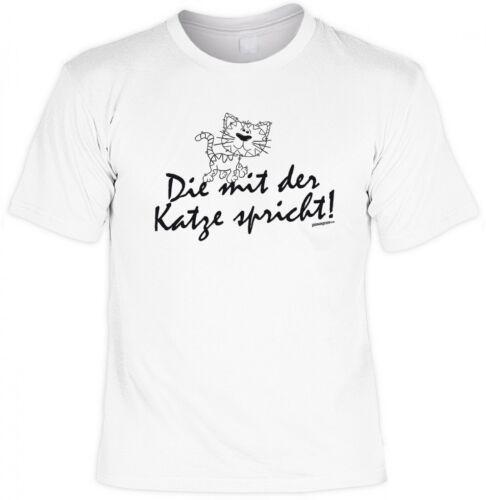 T-shirt Funshirt-les avec le chat parle-drôle slogan shirt Cadeau Humour