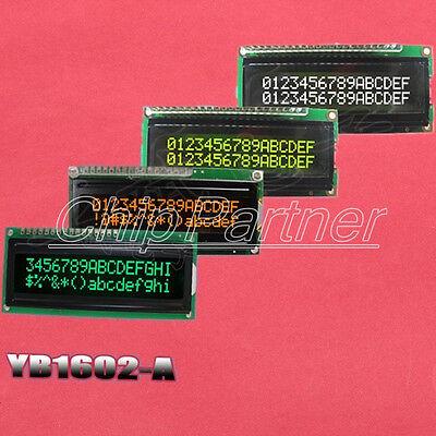 LCD1602A 16x2 Black Background White Yellow Green Blue Dot Matrix LCD Module
