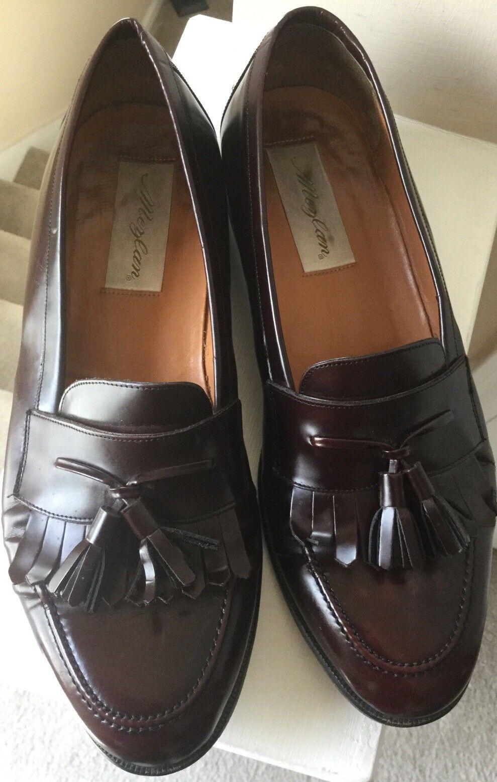 Scarpe casual da uomo  Mezlan Santander US 9 M Brown Leather Handmade Spain Tassel Kiltie uomos Loafers