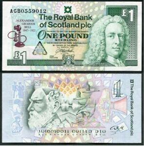 Scotland-1-Pound-1997-Commemorative-Alexander-Graham-Bell-UNC-AGB-1743031