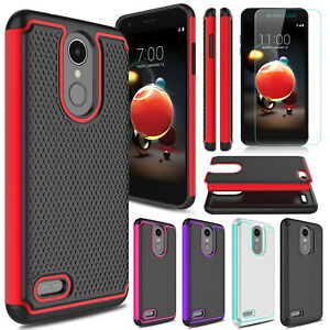 Details about For LG Aristo 2/Tribute Dynasty Phone Case Cover+Tempered  Glass Screen Protector