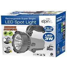 LED TORCH SPOTLIGHT 3W 140 LUMENS BRIGHT LIGHT PORTABLE FLASHLIGHT RECHARGABLE