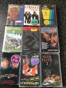 Job Lot / Bundle Of 9 Music Cassette Tapes. Varying styles
