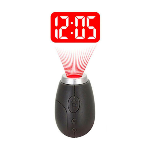 Portable Mini Projection Clock LED Wall Ceiling Projection Gray
