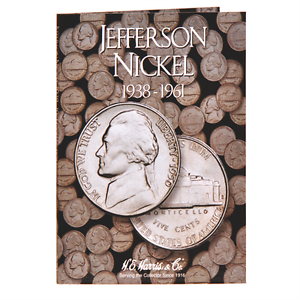"HARRIS /""2679/"" JEFFERSON NICKEL 1938-1961 FOLDER NEW WITH FREE SHIPPING!! H.E"
