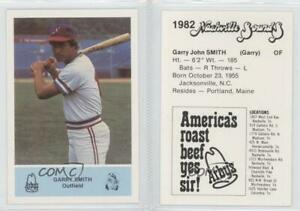 Details About 1982 Arbys Nashville Sounds Garry Smith Rookie Baseball Card