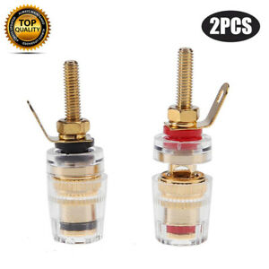 Gold-Plated-Speaker-Terminal-Binding-Post-Amplifier-Connector-4mm-Banana-Plug