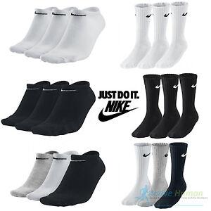 Nike-Calcetines-3-Pares-Hombre-Mujer-Crew-Tobillo-Interior-Deportes-Algodon