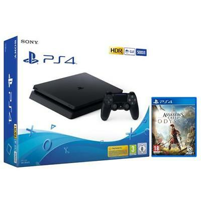 SONY PlayStation 4 Slim 500GB Chassis F Black + Assassin's Creed Odyssey Limited