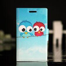 Sony Xperia Miro ST23i Case Schutz Hülle Klapp Flip Etui 2 Vogel Eule Owl
