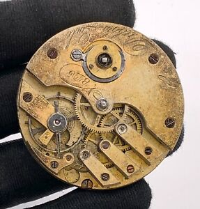Dubois-Locle-8115-Main-Manuel-Vintage-44-8-mm-Pas-Marche-pour-Parts-Pocket-Watch