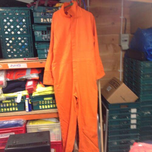 """54/"""" /""""Orange King Soudage Survêtement 52/"""" Orange Flame Retardant Chaudière Costume soudeur"""