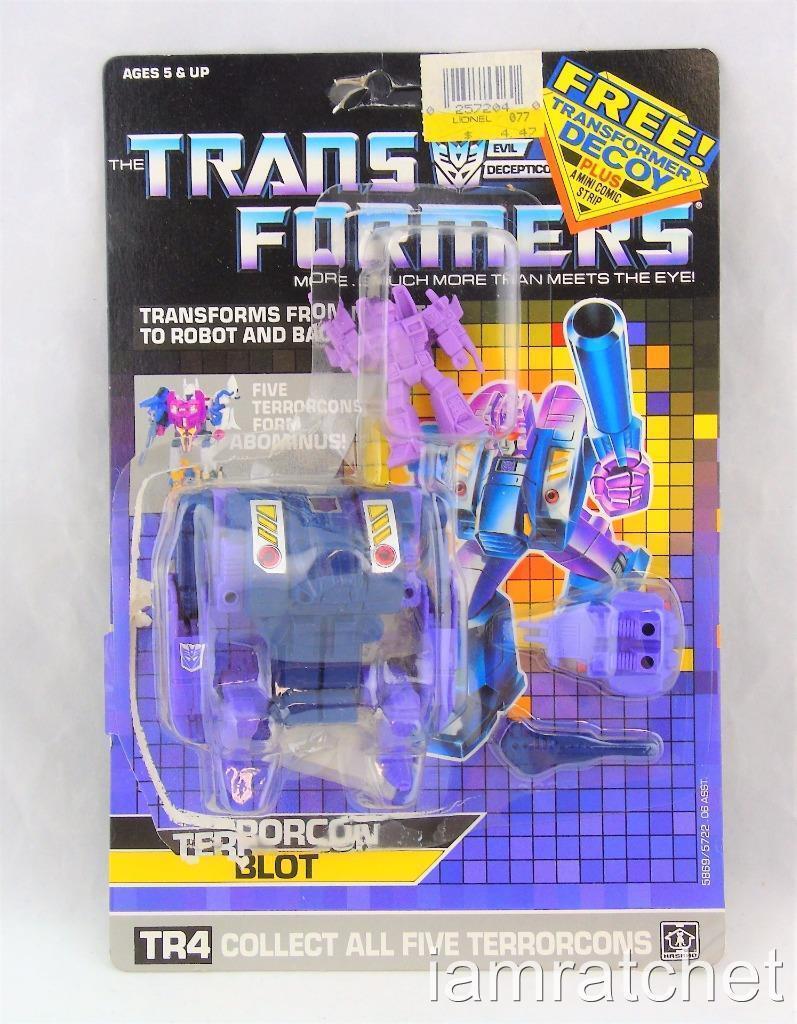 Transformers Original G1 Terrorcon borrón completo con etiqueta de burbuja de tarjeta