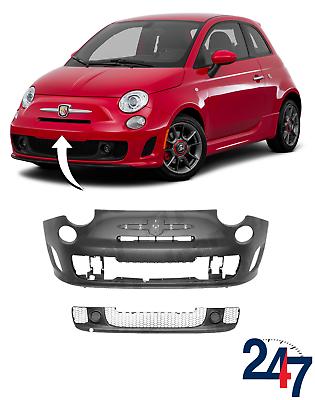 GRILLE AVANT CENTRE PARE CHOCS !! Fiat 500 2007-2015