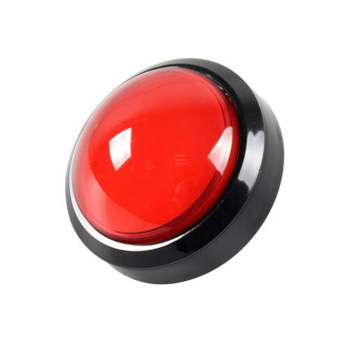 12V Red 100mm Large Dome Convex LED Lighting Button Arcade Machine Video Game