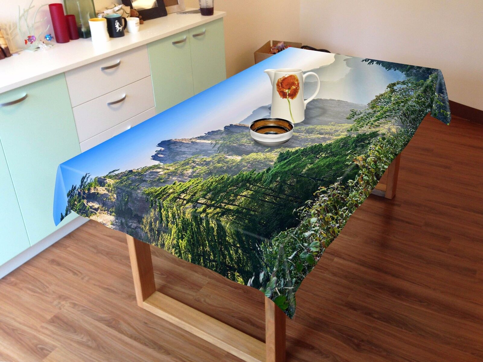 3D Mountain839 Tablecloth Table Cover Cloth Birthday Party Event AJ WALLPAPER AU
