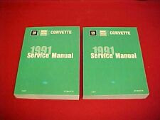 1991 NEW CORVETTE VETTE SHOP SERVICE MANUAL REPAIR SET 91 + WIRING DIAGRAMS
