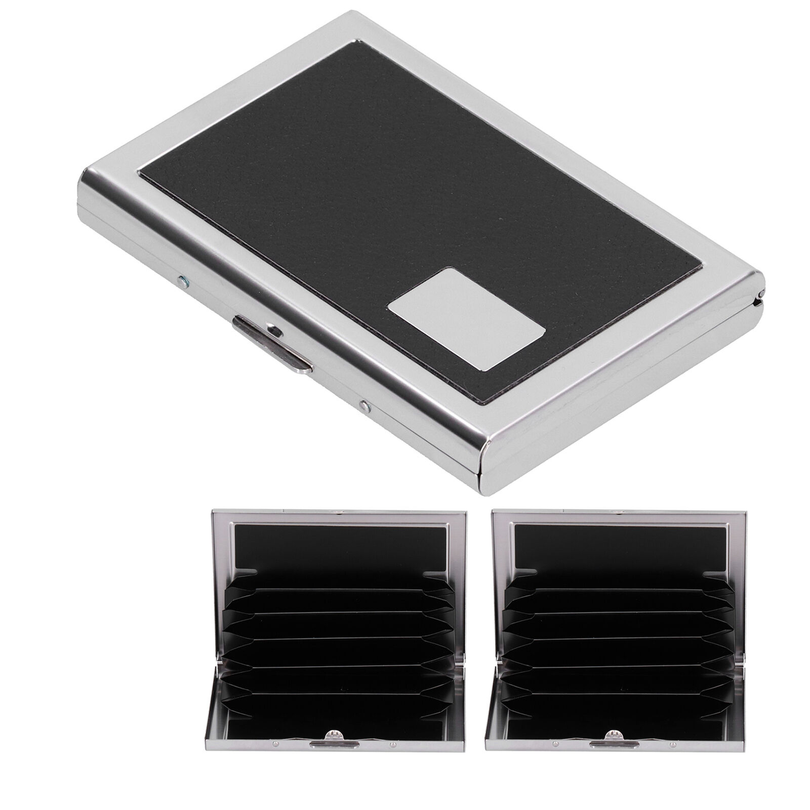 Card Case 6 Card Slots Antimagnetic Stainless Steel Concealed Button Household