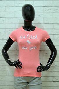 Maglia-ABERCROMBIE-Donna-Taglia-Size-XS-Maglietta-Blusa-Shirt-Woman-Manica-Corta