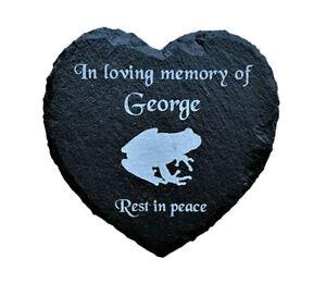 Personalised-Engraved-Slate-Heart-Pet-Memorial-Grave-Marker-Plaque-Pet-Frog
