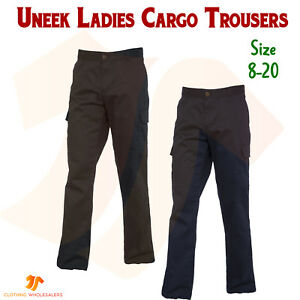 where to buy top-rated quality free shipping Details about New Ladies Cargo Trousers Combat Work Pants Womens Industry  Workwear Bottoms
