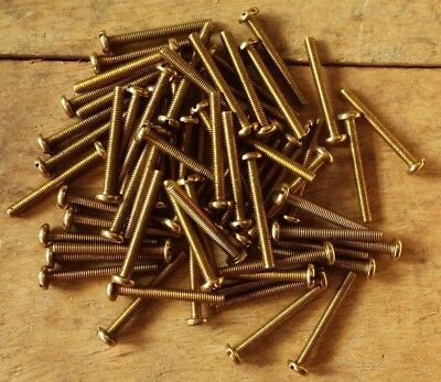 """2BA x 5//8/"""" SOLID BRASS SLOTTED ROUND HEAD BA MACHINE SCREWS MODEL ELECTRONIC"""
