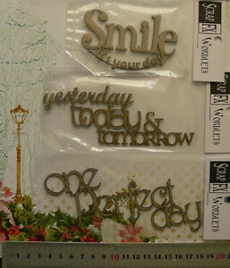 CHIPBOARD-Dream-amp-Perfect-Day-WORDLETS-x-3-Mixed-Designs-Scrap-FX-W1