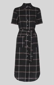robe femme Montana taille WhistlesNouvelle 16 ᄄᆭtiquettes ᄄᄂ avec noire carreaux YfIvm6yb7g