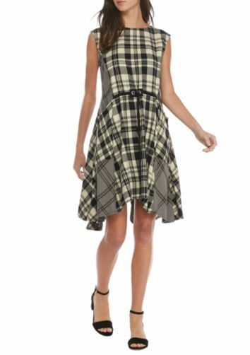Free People Land Lines  cotton plaid mini dress schwarz New with tag Medium
