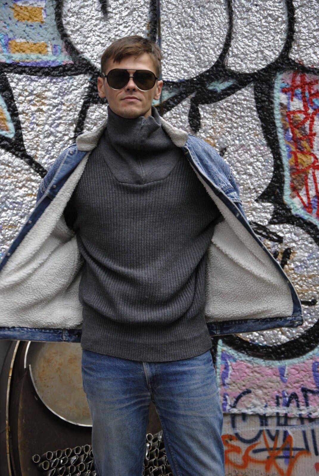 Leuchtfeuer Pullover Pulli grau grau grau Rollkragen 90s TRUE VINTAGE 90er knitwear grau | Mittlere Kosten  5b29f2