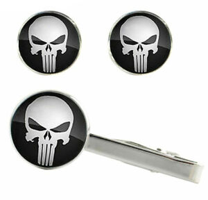 The-Punisher-Cufflinks-Netflix-Daredevil-Tie-Clip-Comic-Book-Cuff-Links-Men-Gift