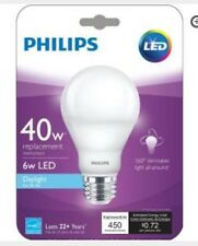 8-Philips LED Daylight 40w, 6w Dimmable Light All-Around Light Bulbs