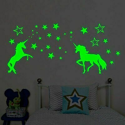 CEILING AND WALLS Details about  /GLOW IN DARK LUMINOUS STICKERS FOR BABY NURSERY ROOM