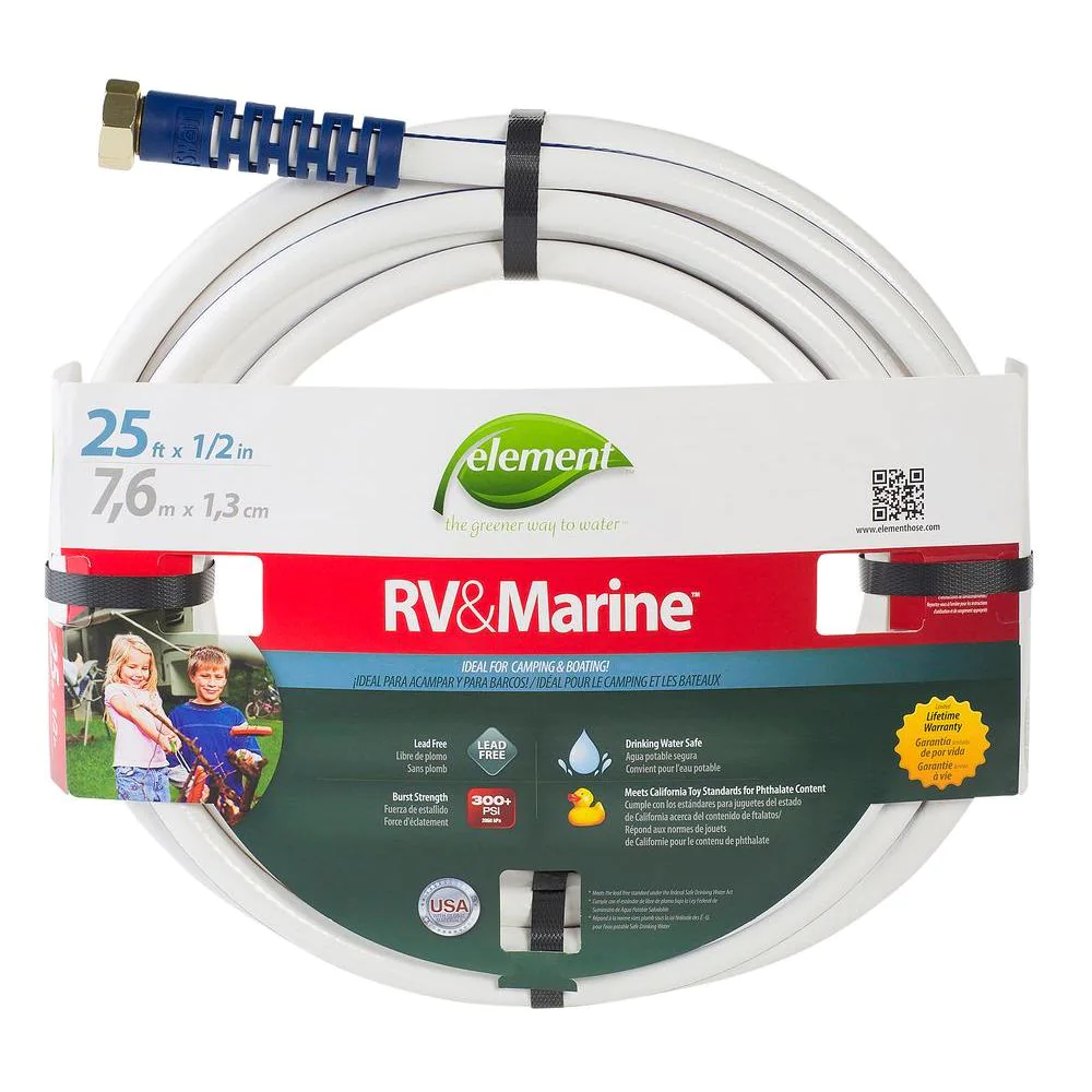 1/2 in. Dia x 25 ft Boat Camper Water Hose Light Weight Garden Drinking Safe New