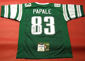 release date edf4c 45f2e Details about VINCE PAPALE AUTOGRAPHED PHILADELPHIA EAGLES THROWBACK JERSEY  AASH INVINCIBLE