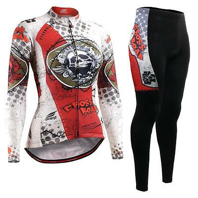 FIXGEAR CS-W501-SET Women's Cycling Jersey & Padded Pants MTB Bike BMX Roadbike
