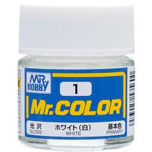 GSI-CREOS-GUNZE-MR-HOBBY-Color-C001-C1-White-LACQUER-PAINT-10ml-MODEL-KIT-NEW