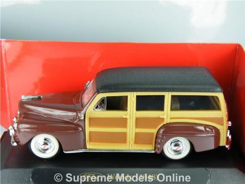 = Ford Woody 1948 Coche Modelo 1:43 tamaño Road Signature ejemplo usa T3412Z